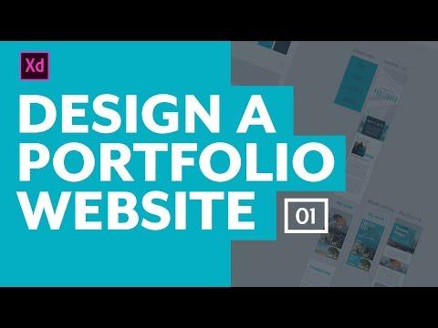 Designing a portfolio website with Adobe XD