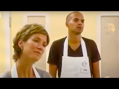 Masterchef - cooking pork and pears - BBC