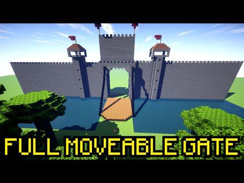 REALISTIC OPEN/CLOSING GATE IN MINECRAFT !