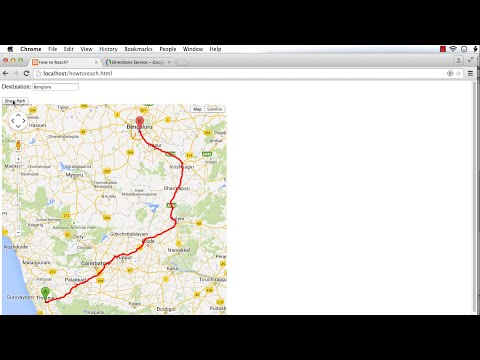 How To Reach? A Unique Location-Aware Application Developed using HTML5