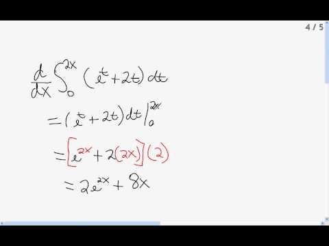 Fundamental Theorem of Calculus - Derivatives of Definite Integrals