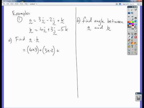 scalar product of two vectors