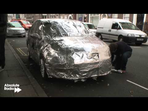 Richie's car gets ENTIRELY wrapped in tin foil