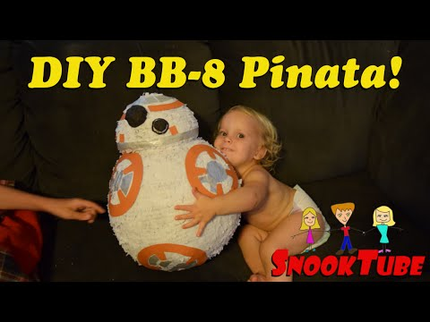 DIY Homemade Star Wars BB-8 Pinata tutorial at high speed!