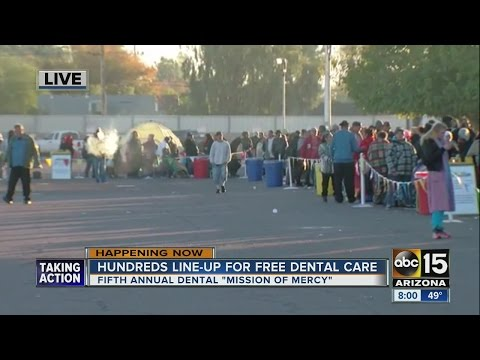 Hundreds line-up for free dental care in the Valley