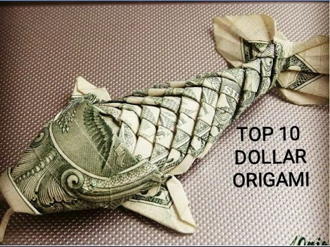 Top 10 Dollar Origami The Most Beautiful | Dollar Origami