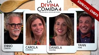 La Divina Comida | Yann Yvin, Carola Correa, Daniela Castro y Ennio Carota