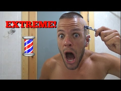 How To Cut Your Own EXTREME High & Tight Recon Military Hair Cut WITH A RAZOR