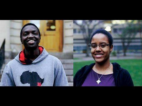 University of Alberta students: Leshan from Kenya & Bina from Tanzania