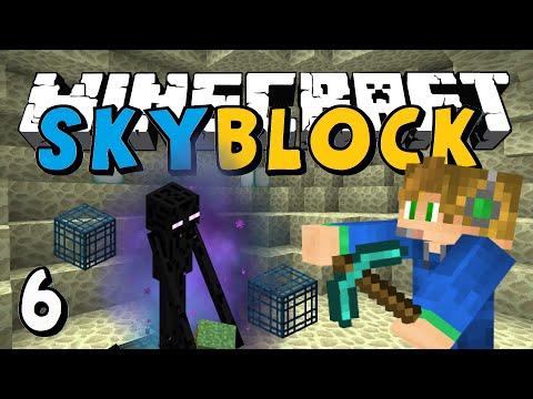 ENDERMAN SPAWNERS?! | Minecraft SKYBLOCK #6 w/Riverrain123