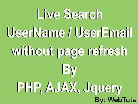 Live username / email availability check using ajax php mysql