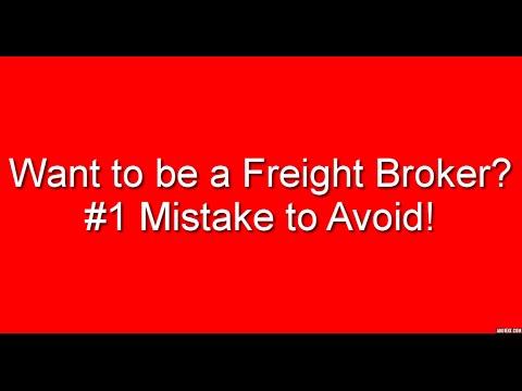Freight Broker Training - #1 Mistake to Avoid