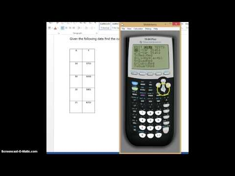 Curve of Best Fit Video using TI84 Calculator