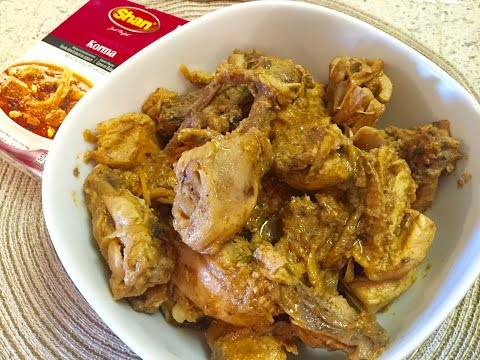 Chicken Korma Using Shan Korma Mix