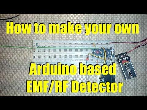 How to make a custom Arduino EMF RF Detector