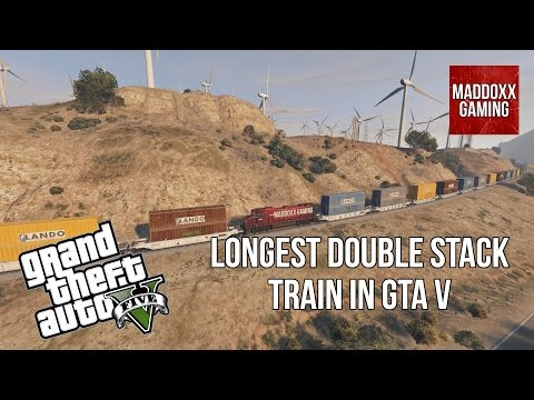 GTA 5 | World Longest Double Stack Train | 1440p 60 Fps | MaddoxxGaming