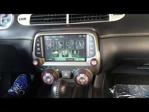 How to Remove Radio / Navigation / Display from Chevy Camaro 2014 for Repair.