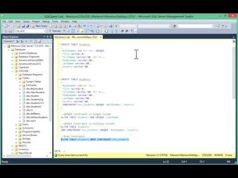 30 - SQL UNIQUE Constraint - Learn SQL from www.SQLServerLog.com [HD]