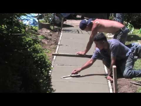 How to pour a Concrete Walkway | Concrete and Cement work Contractor