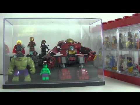 Showing my Lego Minifigure Display Case and review on multi level display case.