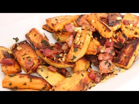 Skillet Roasted Sweet Potatoes Recipe - Laura Vitale - Laura in the Kitchen Episode 662