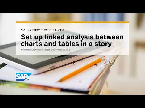 Set up linked analysis between charts and tables in a story: SAP BusinessObjects Cloud (2017.10.1)