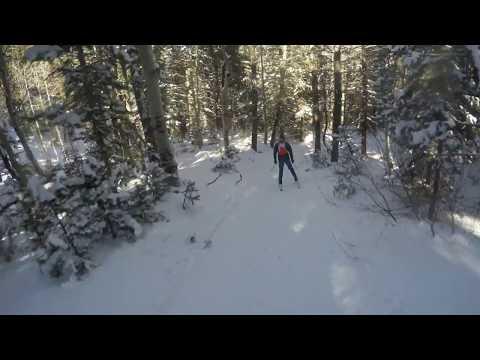 Fastest Known Time Luge Ski Trail Utah Porter Fork
