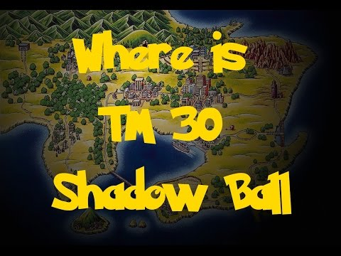 Where Is: TM 30 - Shadow Ball (Pokemon Fire Red/Leaf Green)