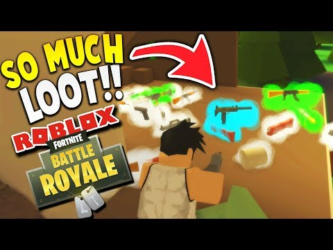 CAN WE GET A VICTORY ROYALE WITH ALL THIS LOOT?! | Fortnite Island Royale Roblox Gameplay