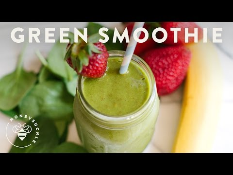 Green Smoothie with Coconut Water Recipe - Honeysuckle