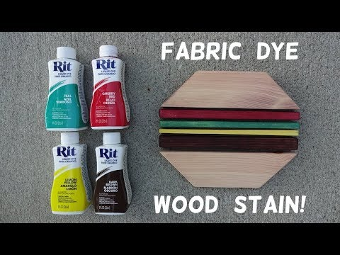 How to Stain Wood with Fabric Dye!