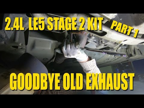 Removing The Exhaust - Changing Transmission Fluid 2007 Saturn Sky - RPM Stage 2 Kit Part 1