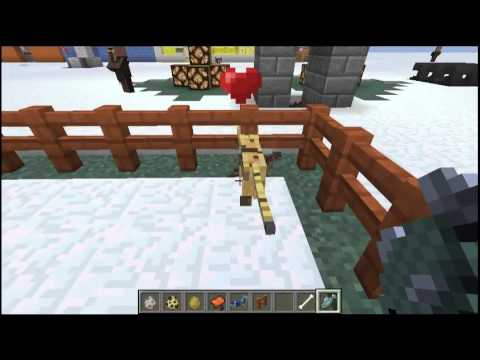 Minecraft Tutorial - How to Tame Ocelot, wolf, and horse