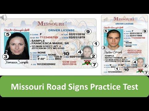 Missouri Road Signs Practice Test