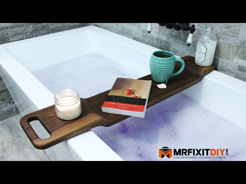 DIY Walnut Bath Caddy