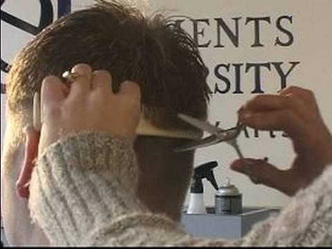 How to Do a Man's Clipper Haircut : Blending Hair with Scissors for a Man's Clipper Haircut