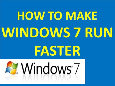 how to make windows 7 run faster -  HD  (Hindi/Urdu)