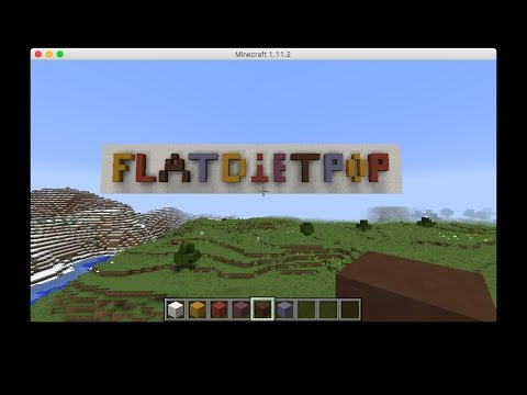 Running Minecraft on 2012 MacBook air with FPS showing.
