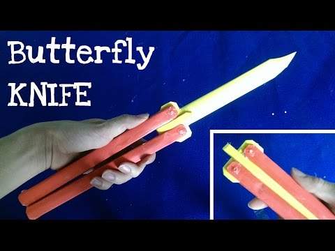How to make a Paper Butterfly Knife ★ Balisong ★ Very simple