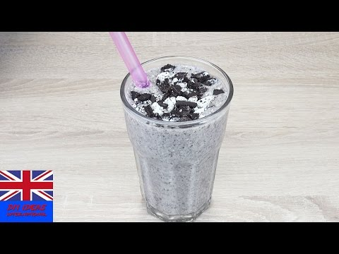 DELICIOUS OREO BANANA MILKSHAKE | recipe for a cookie-milkshake in 2 minutes
