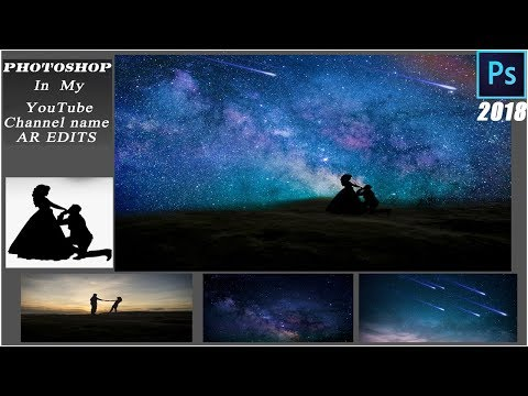 photoshop tutorial: How to Make STARRY NIGHT SKY with NORTHERN LIGHTS 2018 by ar edits