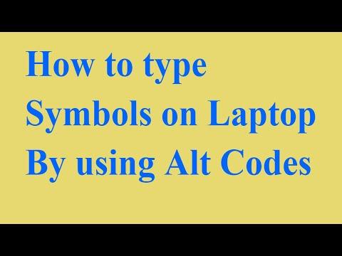 Alt codes ◄ ƒöΓ symbols öñ Laptop keyboards ♥ -by technical dharmu