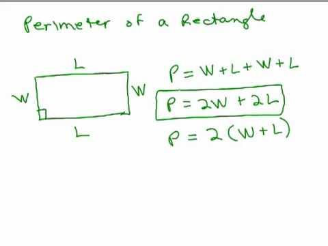 Perimeter Triangle Square Rectangle Circle