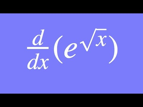 How to differentiate e^sqrt(x) using the Chain Rule