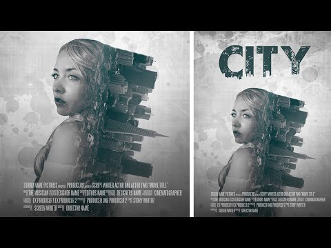 Photoshop Manipulation | Film Poster Design | Double Exposure Effect Tutorial