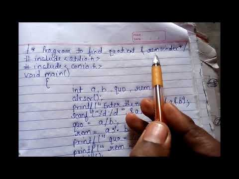 Lecture-13 Program for quotient and remainder By Brijesh verma ||All solution is here c programming