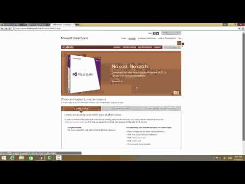 how to register and download programs from dreamspark