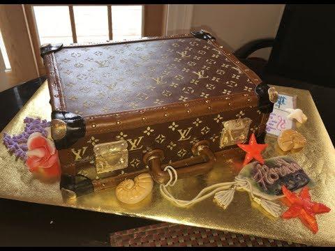 Bon Voyage LV Luggage Cake