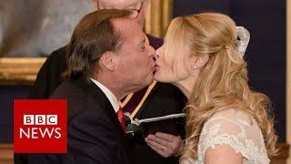 Newlyweds at war over Trump
