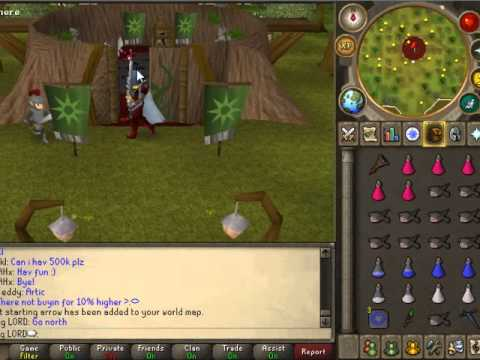 Runescape Tutorial [How to get to ape troll Monkey Guard's] W/ commentary